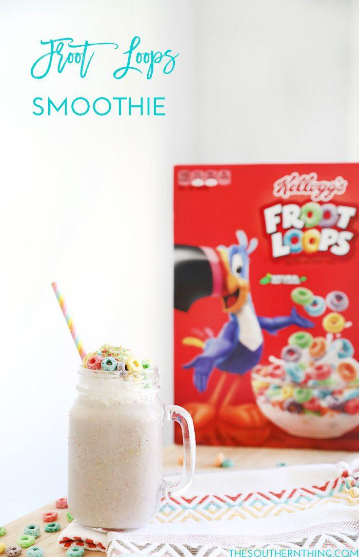 Froot Loops Smoothie Recipe #ad #kelloggscerealyourway @kelloggsus @samsclub