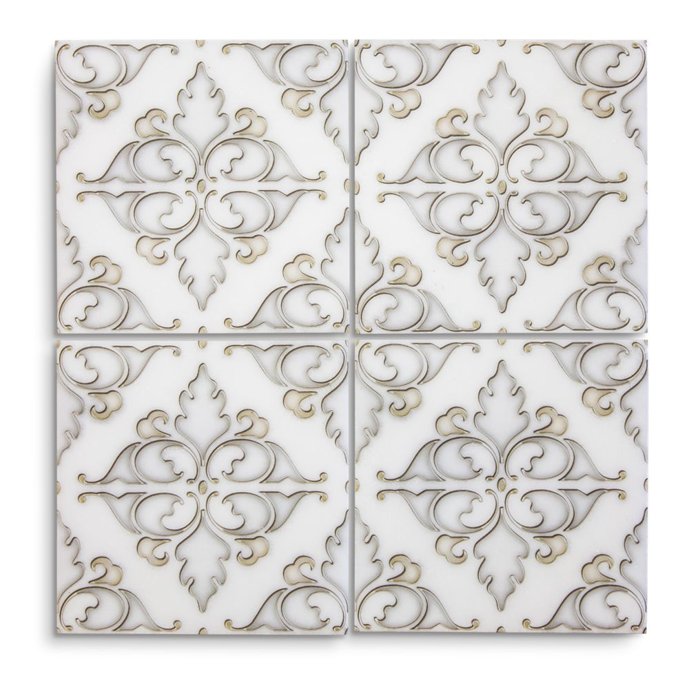 Hindu Temple Classic Statuario 6 In X 6 In X 8 Mm 15179 Jeffrey Court Showroom Designer Collectio Gorgeous Tile Hindu Temple White Marble Floor