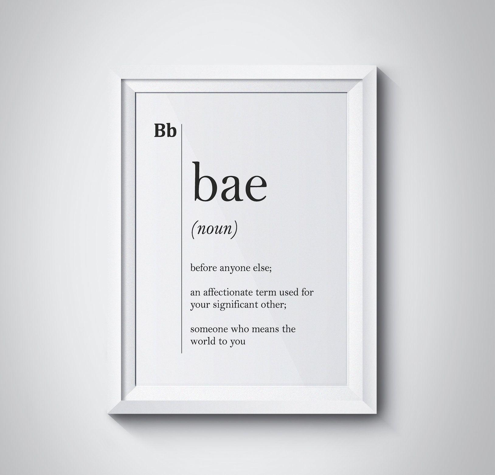 Bae Definition Print Boyfriend Girlfriend College Gift Dorm Home Decor Dictionary Wall Art Scandinavian Black & White Instant Download  by HQstudio on Etsy