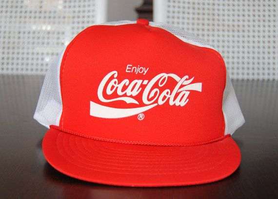 8b0c34742 VIntage 80s Coke CocaCola Red and White Foam Trucker by TheLanai ...
