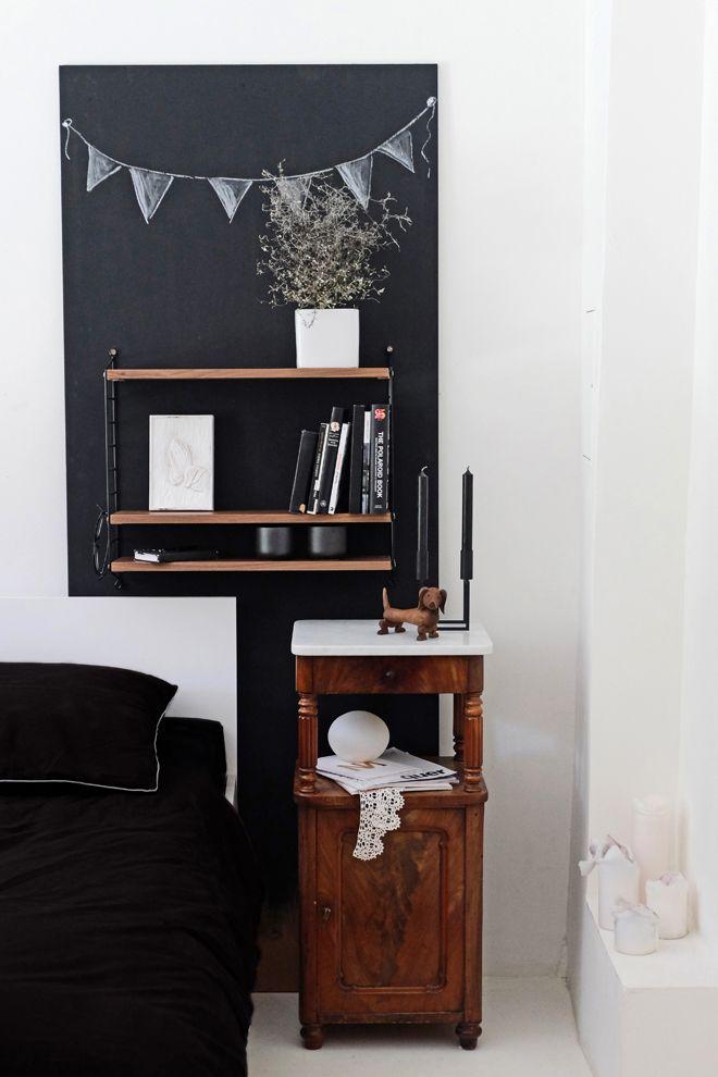 Schlafen unterm string string pocket inredning for Spiegelwand schlafzimmer