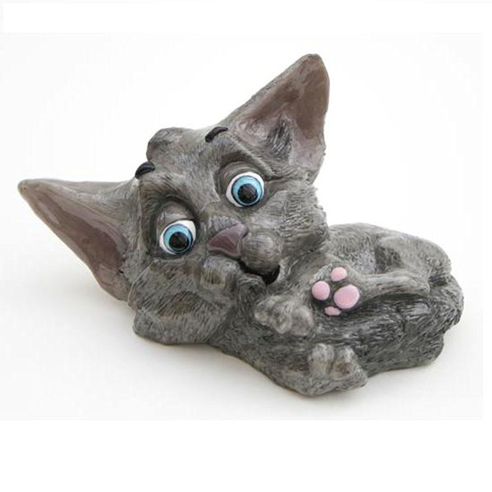 Little Paws Sophie Kitten Charcoal Gray Grey Cat Arora Uk Collar Tag Grey Cats Paw Cat Gifts