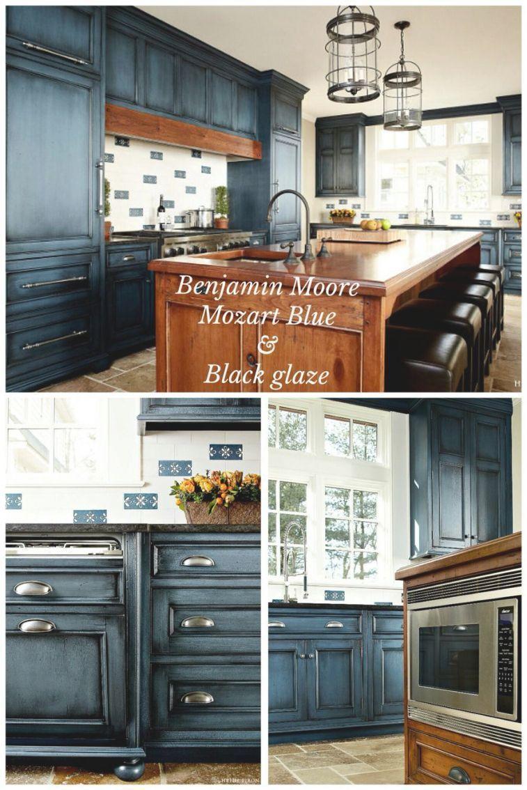 Blue Glazed Kitchen Cabinets Glazed Kitchen Cabinets Kitchen Design New Kitchen Cabinets