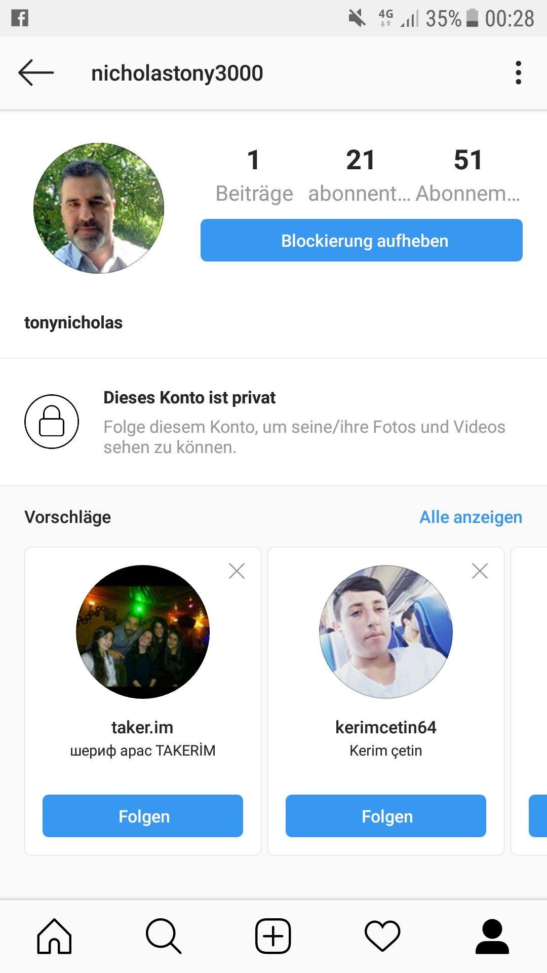 Liebesbetrüger Instagram