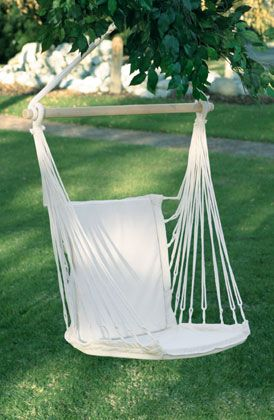 hanging cotton chair hammock cushion seat back yard porch rocking patio swing could this be a  fortable outdoor reading space    backyard      rh   pinterest