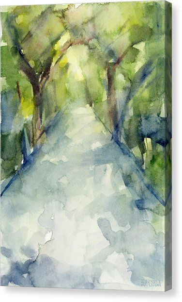 Path Conservatory Garden Central Park Watercolor Painting Canvas Print / Canvas Art by Beverly Brown #conservatorygarden