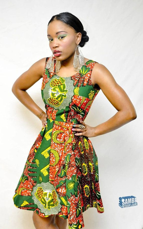 ae41ac1a African Print Swing Dress small by TabithaCreations on Etsy, $85.00 ...