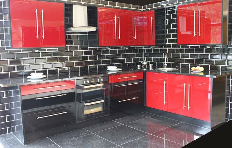 Best Red High Gloss This Red And Black High Gloss Kitchen 640 x 480