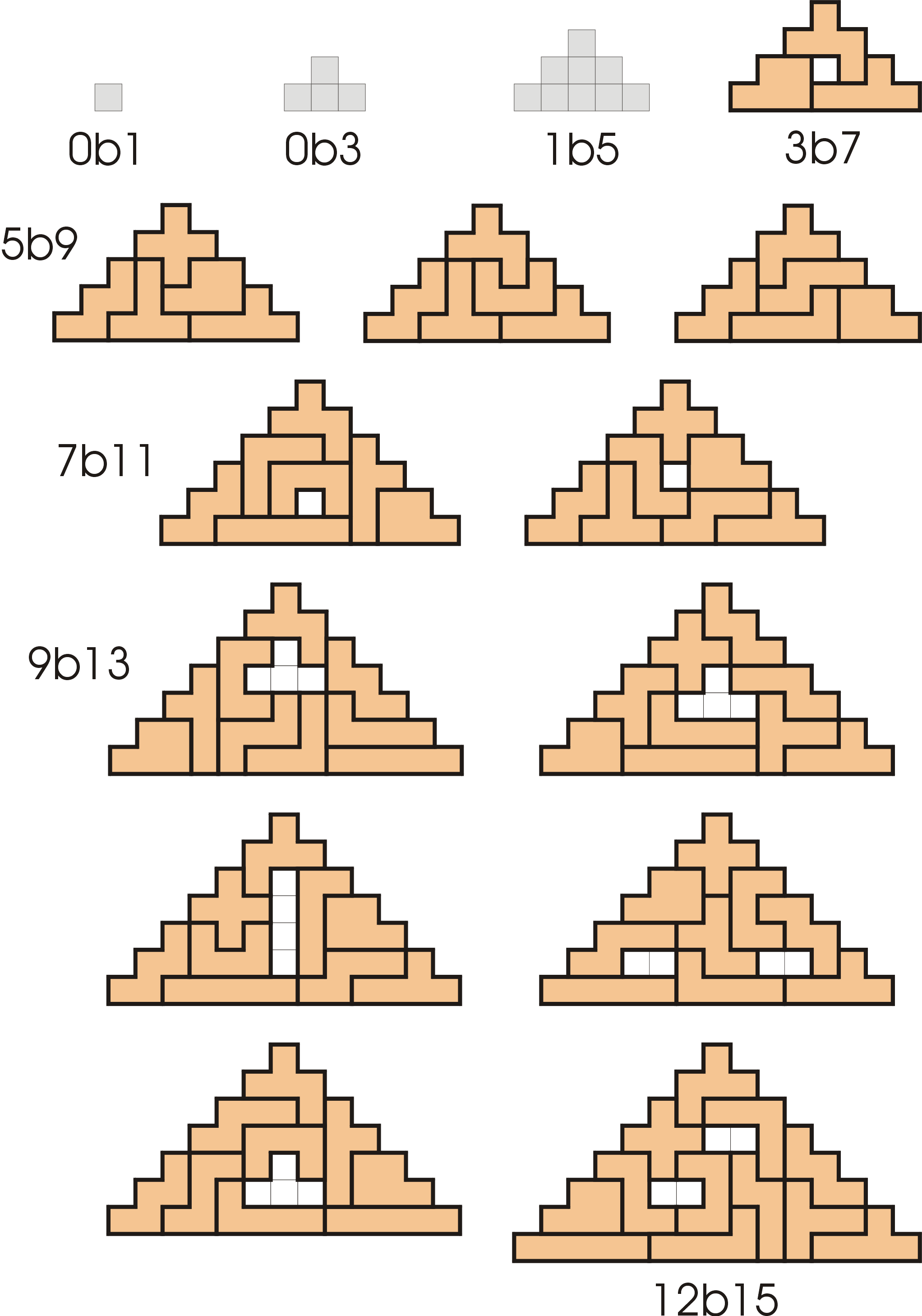 worksheet Pentominoes Worksheet pyramids made from 1 set of pentominoes ones with bases 5 or more pieces