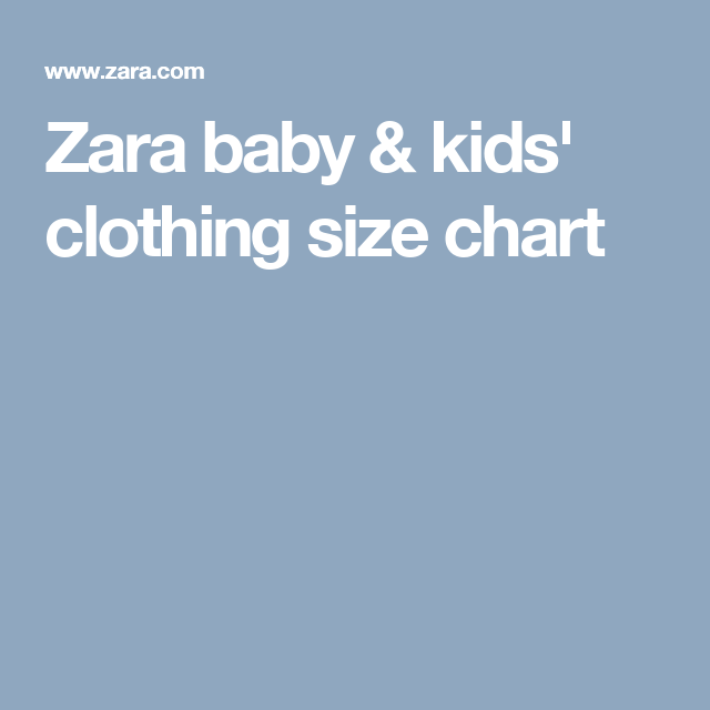 Zara size chart baby clothes clothing kids predict your   future in also rh pinterest