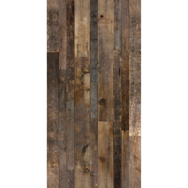Barn Wood Look Wall Panel 48 X 96 Brown Rona Decorating In