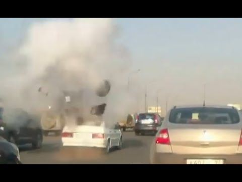 The explosion of a car through loudspeakers _In Russia the beat drops yo...