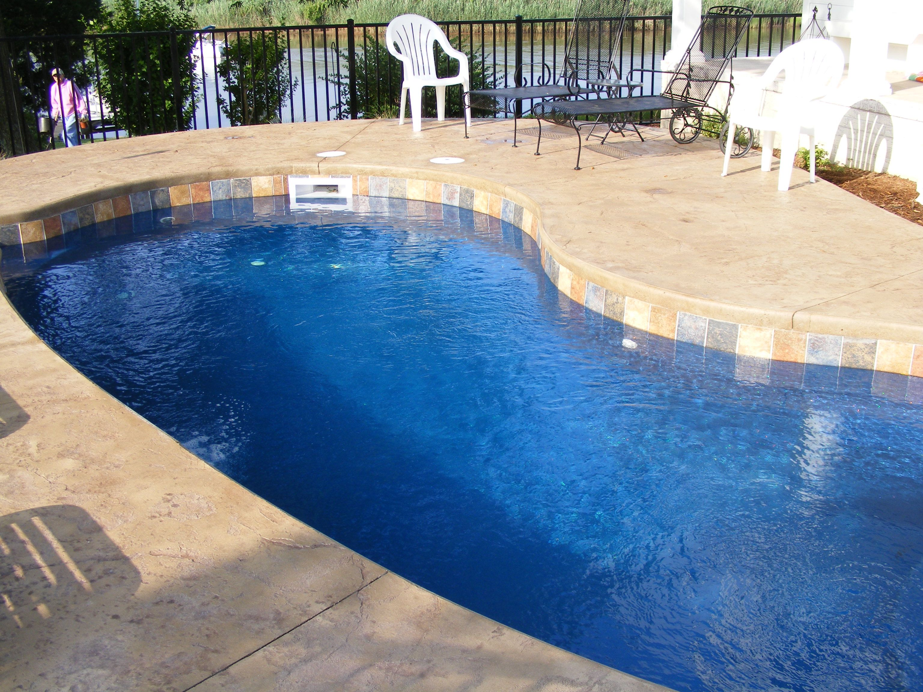 Fiberglass Pool Ideas small inground fiberglass pool Fiberglass Pool Coping Paver Vs Cantilevered Concrete Quick Comparison
