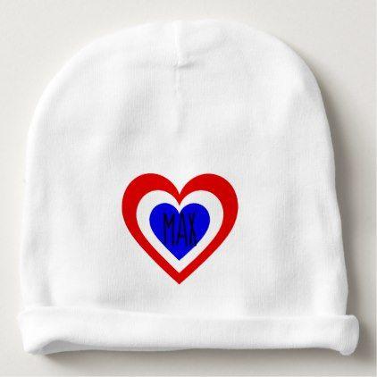 Netherlands/Dutch flag-inspired Hearts Baby Beanie ...