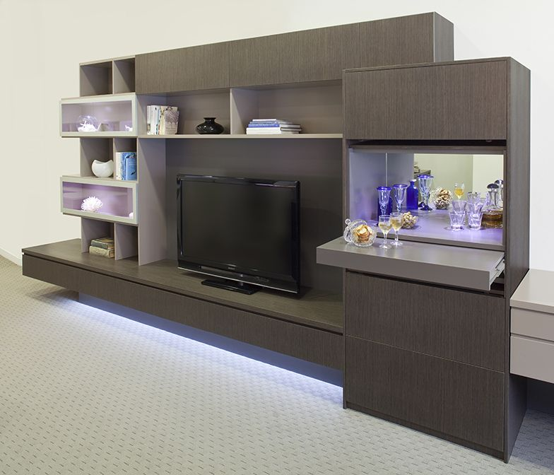 Home Entertainment Spaces: Wall Unit/entertainment Unit With Cocktail Bar