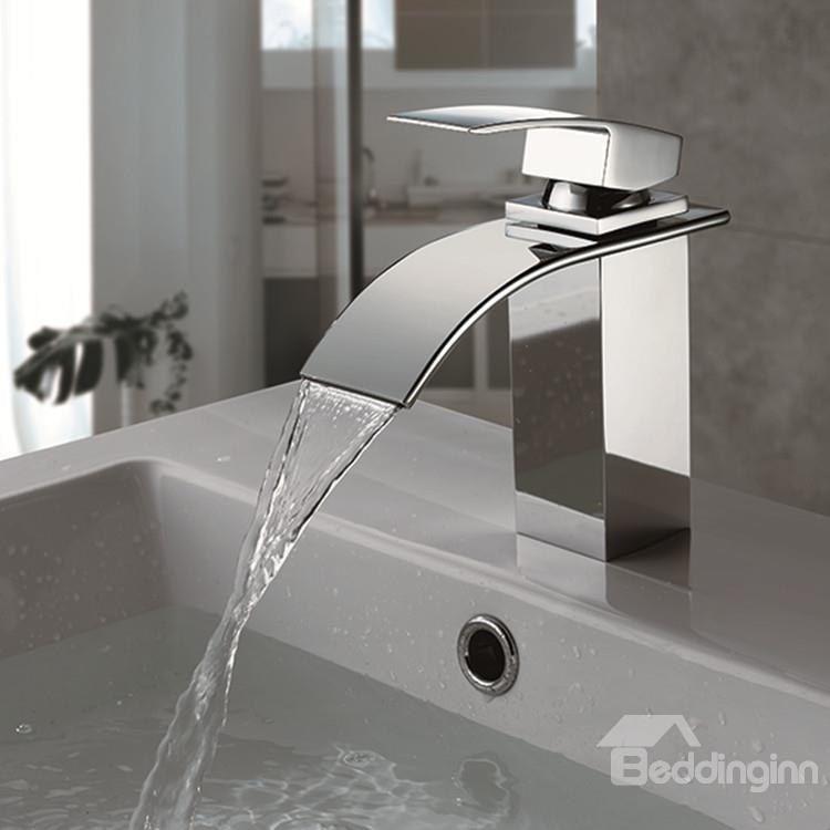amazing waterfall bathroom sink faucet