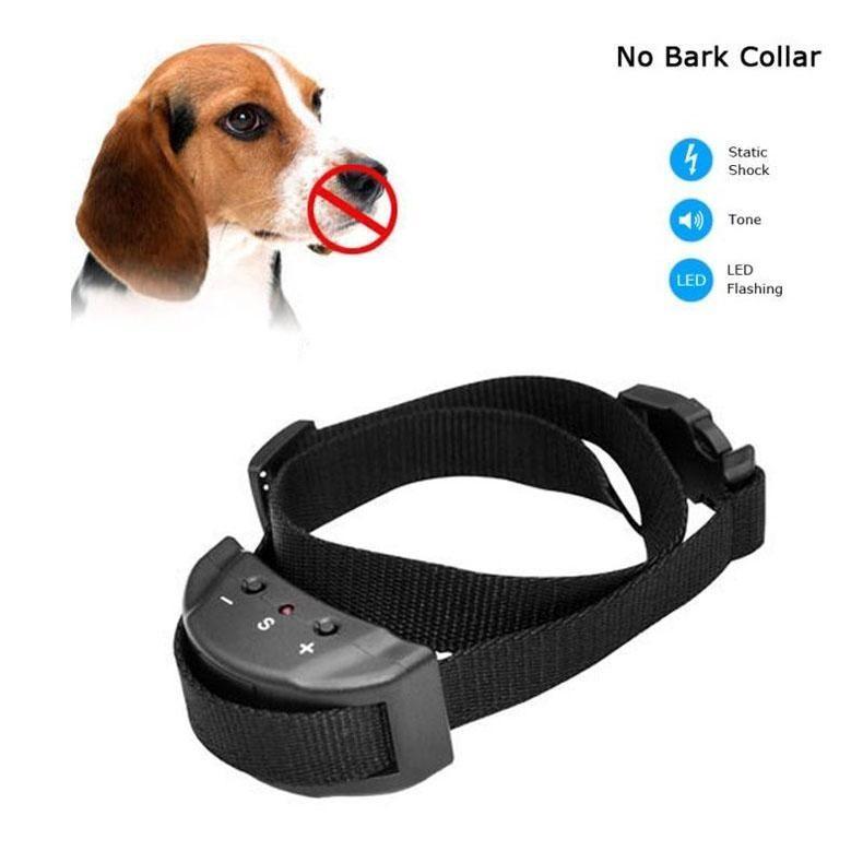 No Bark Rechargeable Electronic Waterproof Dog Collar On Sale