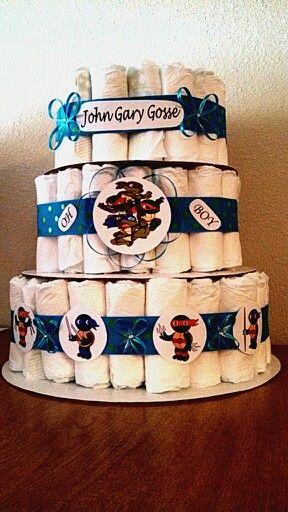 My First Diaper Cake!!! Baby Ninja Turtles!!! :)