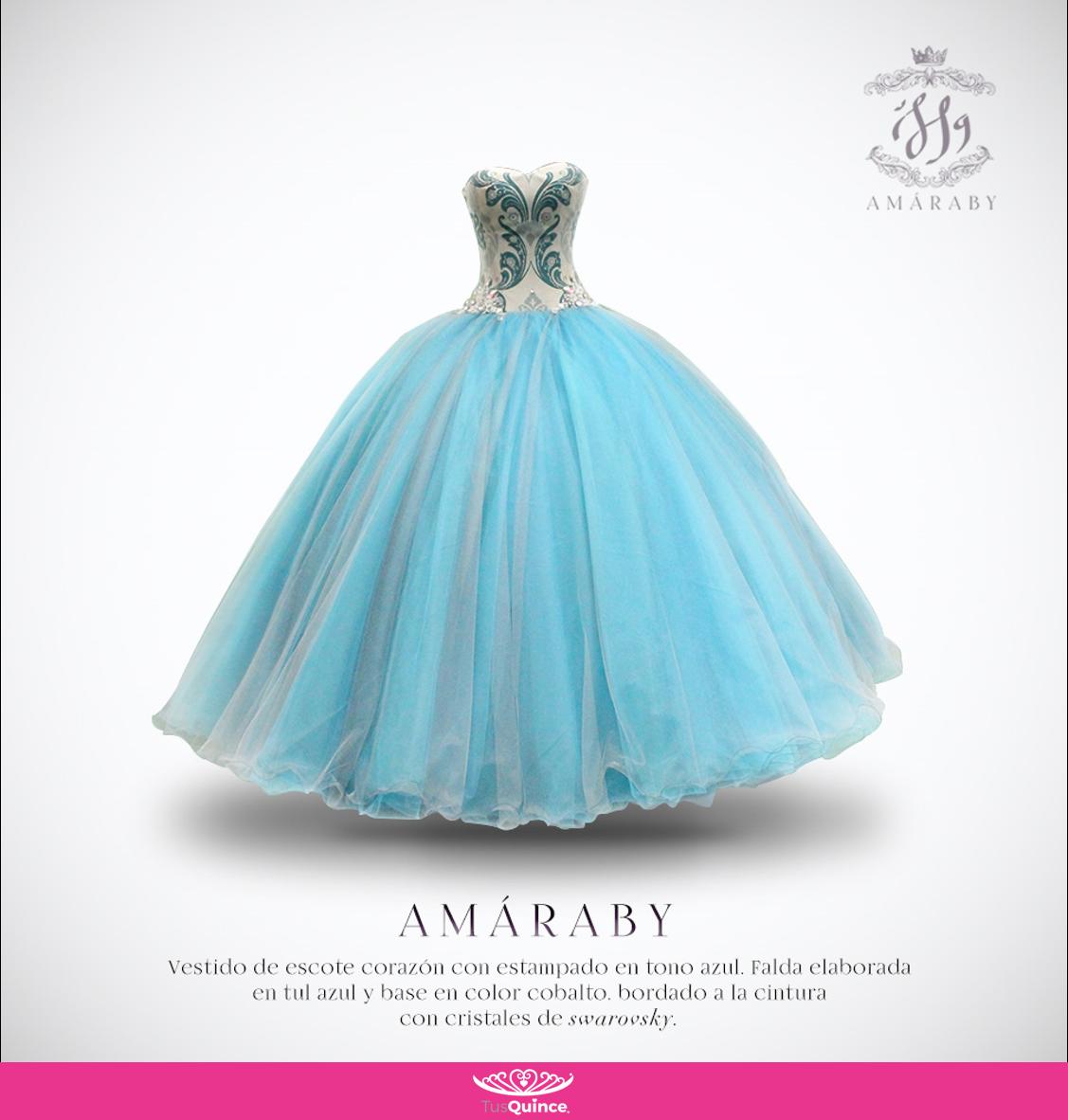 VestidoDeQuince #QuinceAños #Vestido #Azul #Amaraby #Vestido ...