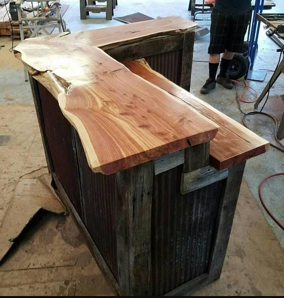 17 Best Ideas About L Shaped Bar On Pinterest: Live Edge L Shaped Bar