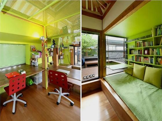 fusion design  traditional korean home with modern interior. fusion design  traditional korean home with modern interior   For