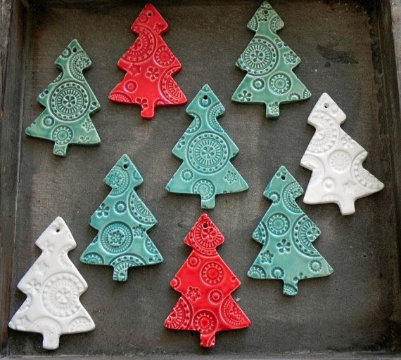 Ceramic Christmas Tree Decorations.Ceramic Christmas Tree Ornaments White Ceramic Tree Pottery