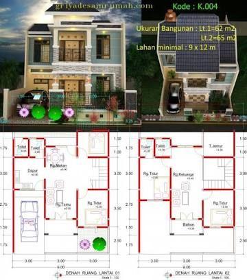 hasil gambar untuk denah rumah mewah | casas, 2° piso, pisos