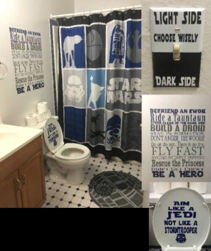 Star Wars Bathroom Toilet Decal Aim Like A Jedi Star Wars