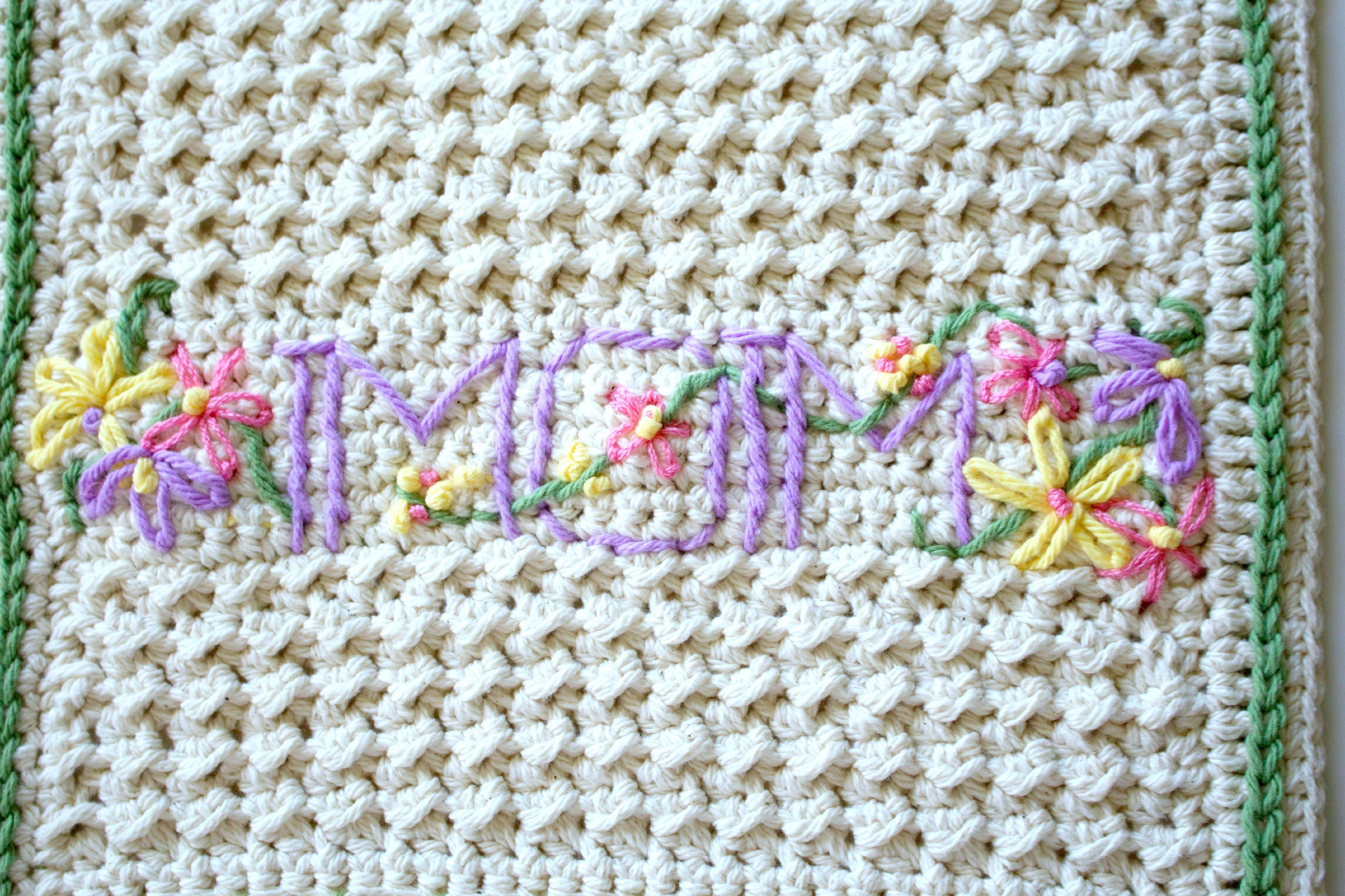FREE Crochet Pattern - A New Dishtowel & Embellishment 101 | kitchen ...