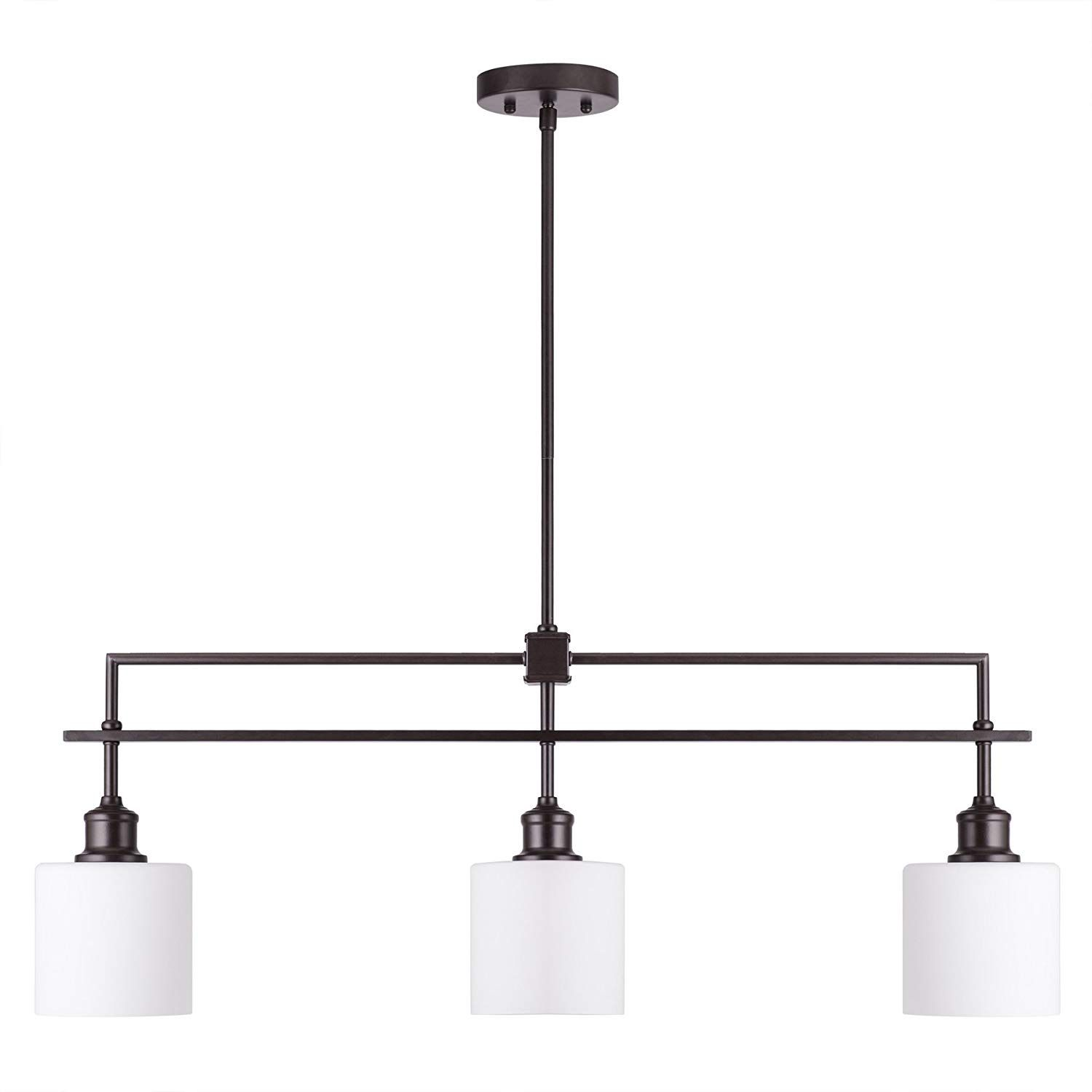 Co z oil rubbed bronze kitchen island lighting 3 light linear pendant island chandelier for billiard pool table dining room counter foyer modern hanging