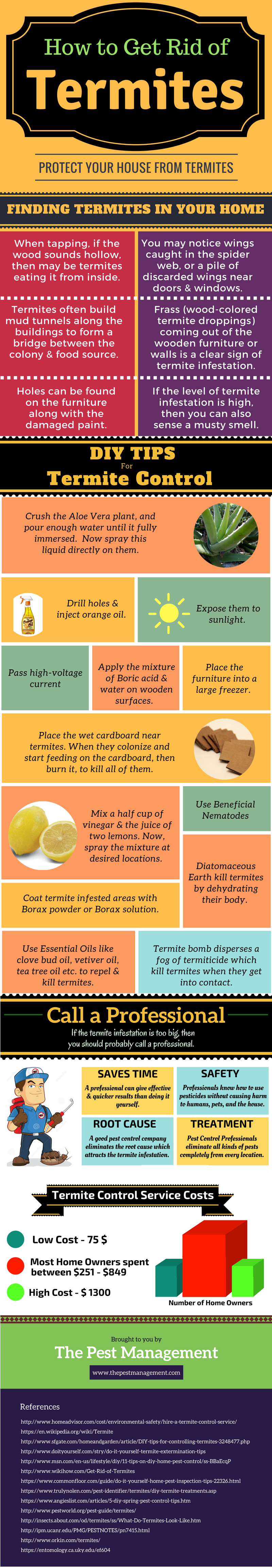 How To Get Rid Of Termites A Complete Guide With Infographic Termites Termite Control Termites Diy