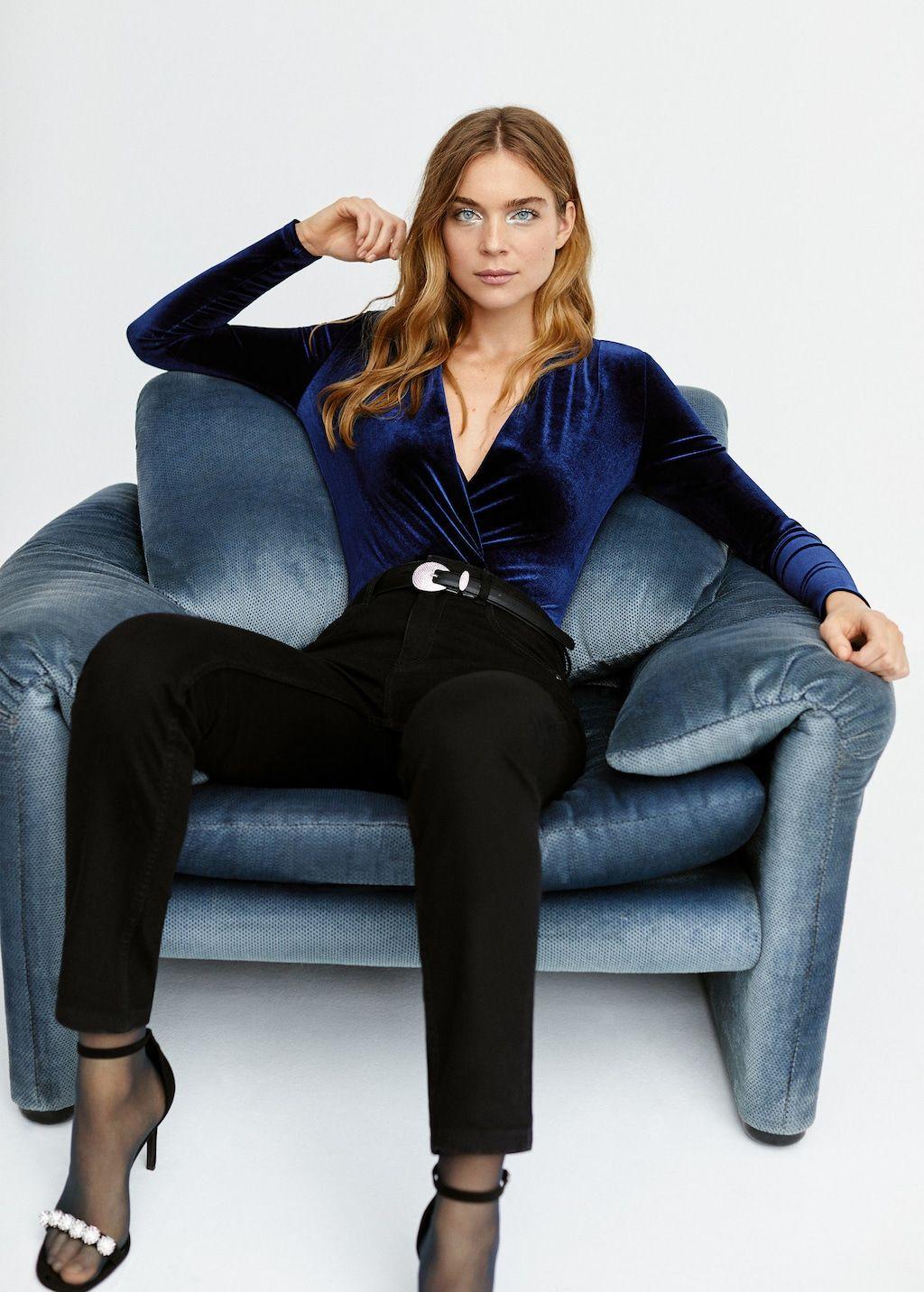 61614d3189 Pleat detail velvet body - Women in 2019
