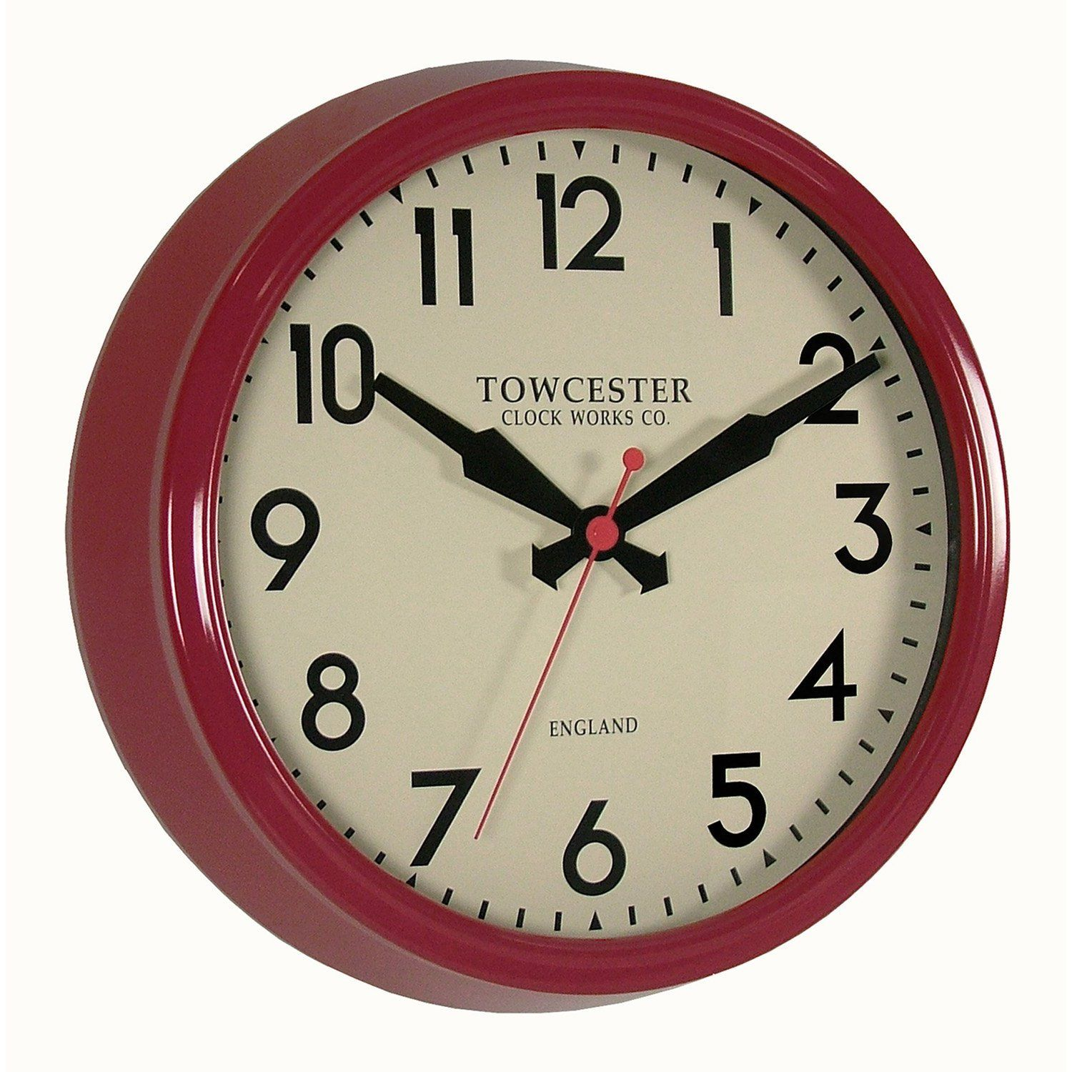 Acctim 26914 fenchurch wall clock red amazon kitchen silver retro fenchurch and edgeware road acctim wall clock amipublicfo Choice Image