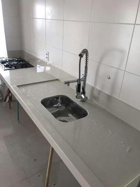 Pia De Porcelanato Com Imagens Porcelanato Cozinha Pias De