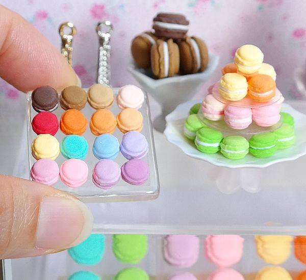 Miniature Macarons Macaroon Sweets Pastry Bakery Miniature