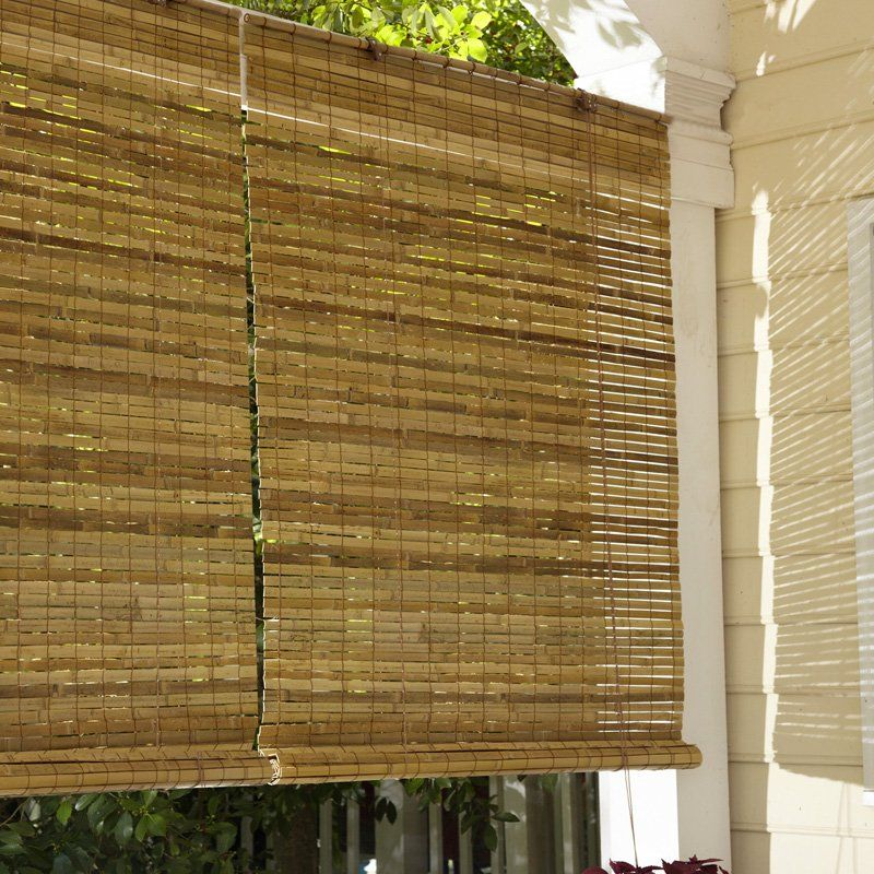 Have To Have It Radiance Laguna Woven Indoor Outdoor Wood Bamboo