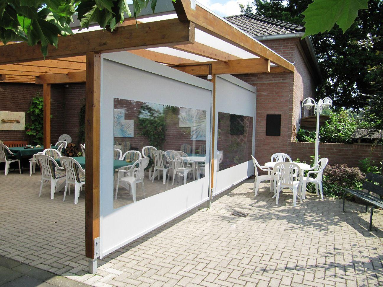 Zip Markisen Als Sonnen Und Regenschutz Terassenideen Terrassen Dach Terrassendach