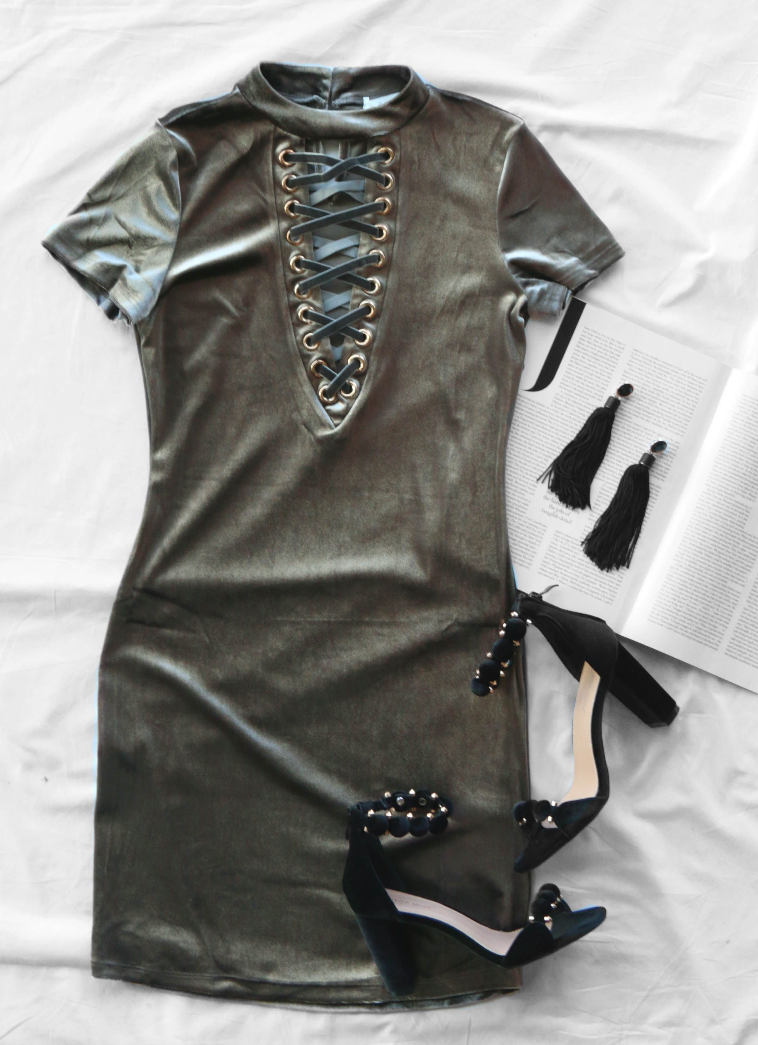 57de6431783bb Green Outfits, Cute Summer Dresses, Marley Rose, Silver Dress, Party Outfits ,