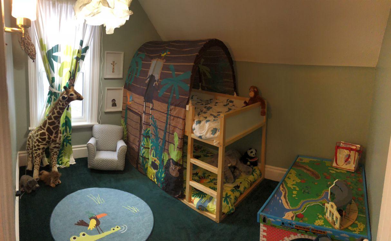 IKEA, KURA BED, DJUNGELSKOG  Small kids room, Kids jungle room
