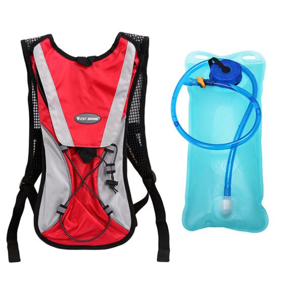West Bking 2L Tpu Bicycle Climbing Camping Sports Mouth Water Bladder Pack  Backpack Bag Hydration 1a3691d734