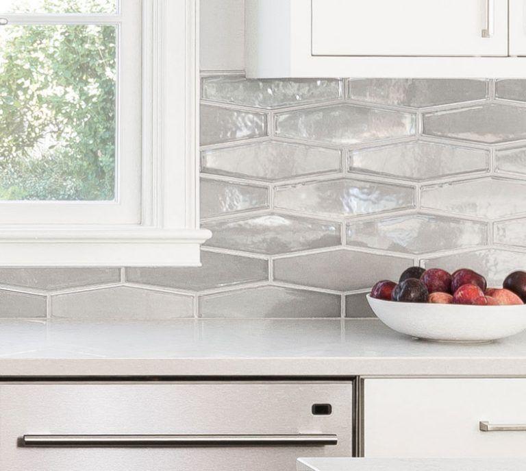 Gray Gloss Elongated Hexagons - Pratt  Larson Kitchen in 2018