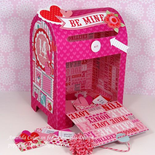 by amanda coleman combine a fun electronic cut file and the lovebirds collection to create this fun special delivery valentine box