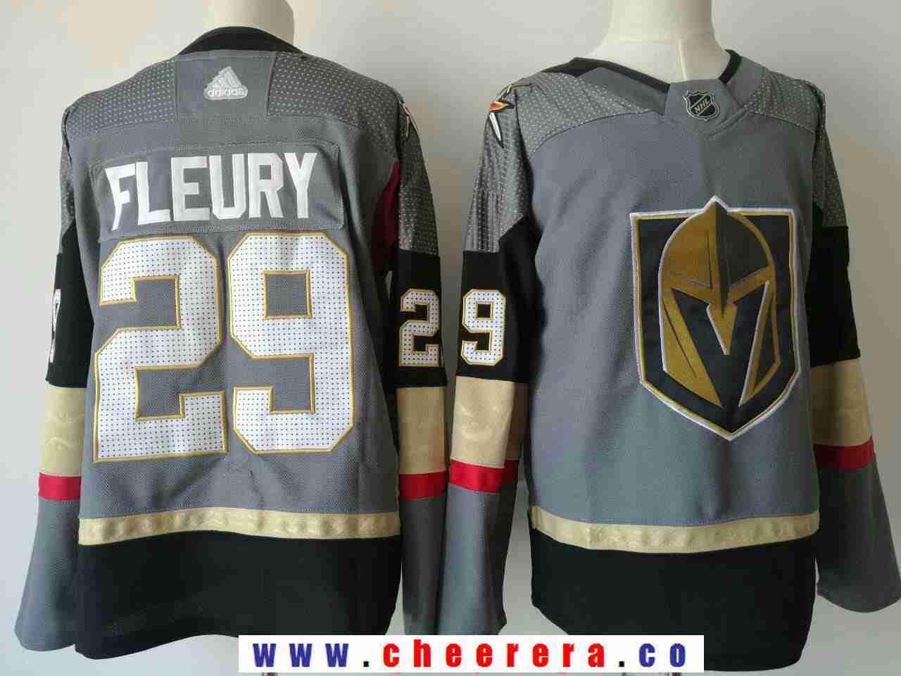 84537ff94b2 Vegas Golden Knights #29 Marc-Andre Fleury Steel Grey 2017-2018 adidas  Hockey Stitched NHL Jersey