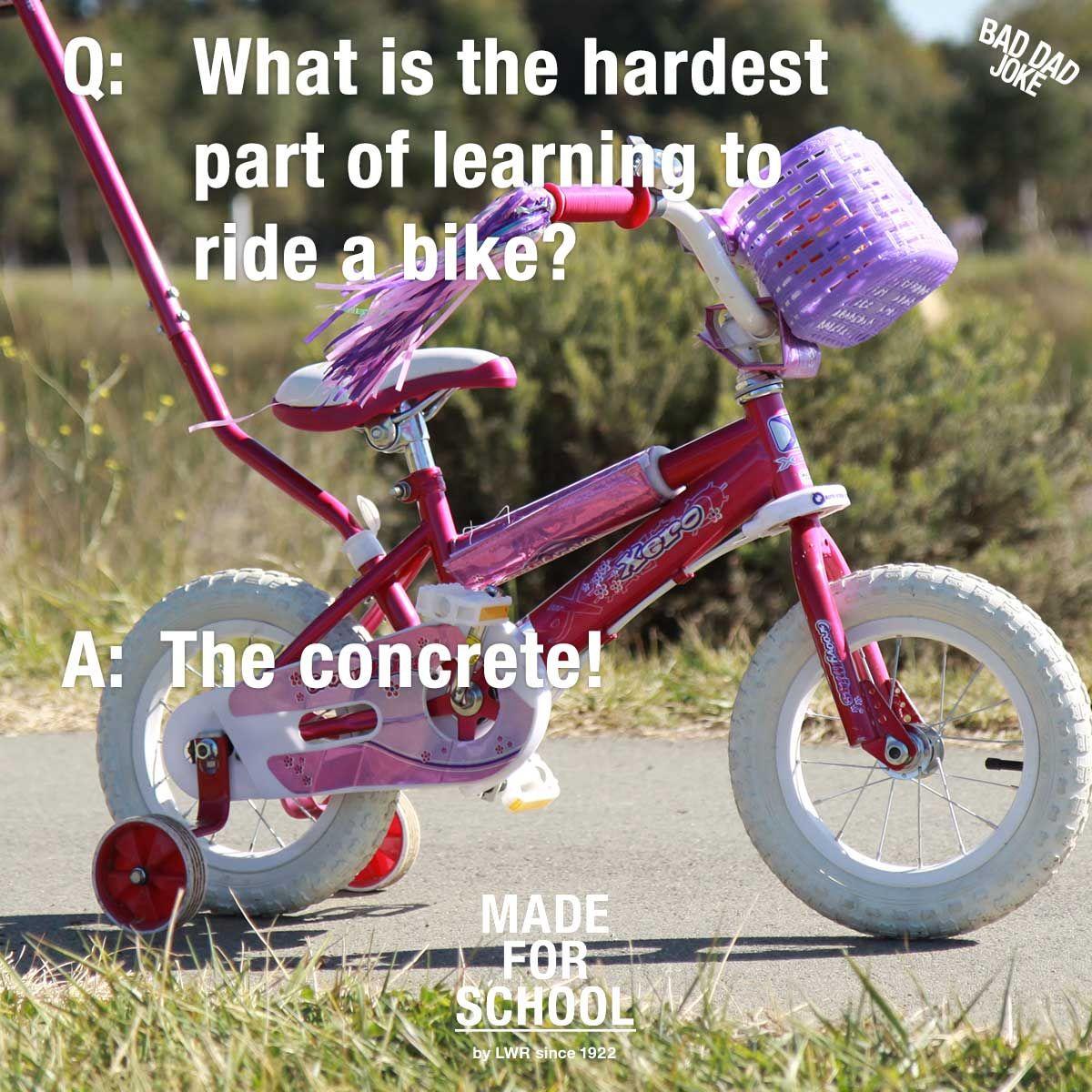 Bad Dad Joke Bike Riding Bike Ride Bad Dad Jokes Jokes