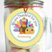 Thankful for you Turkey Thanksgiving Tag with a Turkey and a Pumpkin Sticker  Editable Tag  E224 Editable Thankful for you Turkey Thanksgiving Tag with a Turkey and a Pum...