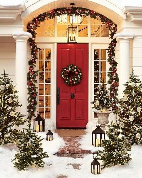 Amerikanische Weihnachtsdeko Aussen elegante weihnachtsdeko für außen aussen