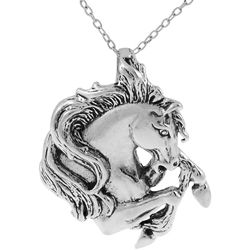 Sterling silver horse head high polish pendant fashion necklace sterling silver horse head high polish pendant fashion necklace overstock shopping aloadofball Gallery