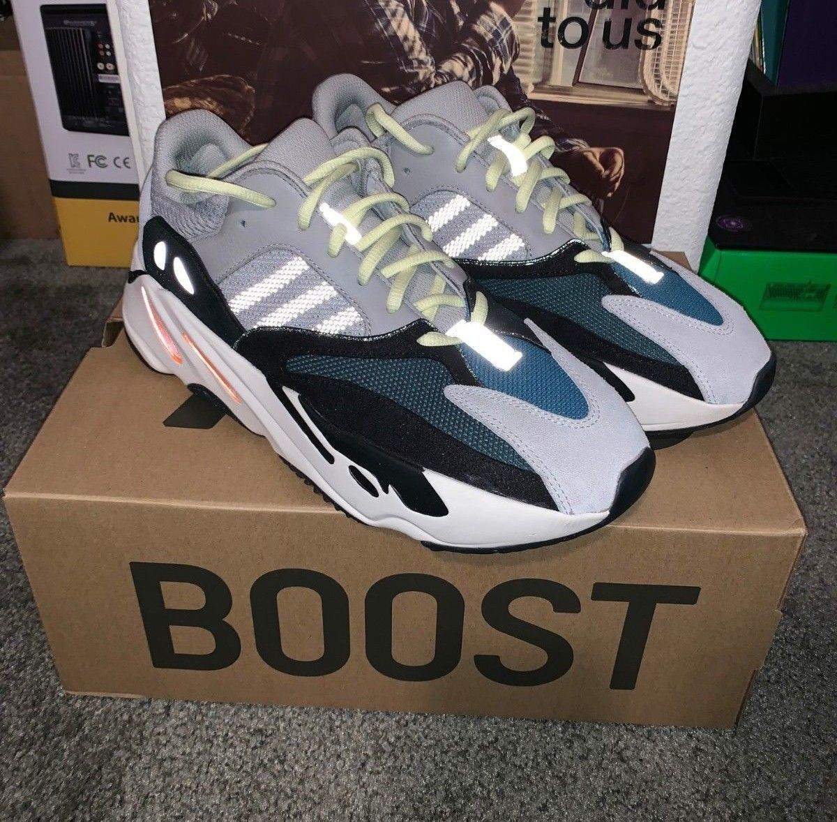 47c4a537817ee Details about Adidas Yeezy Boost Wave Runner 700 Mauve EE9614 US ...
