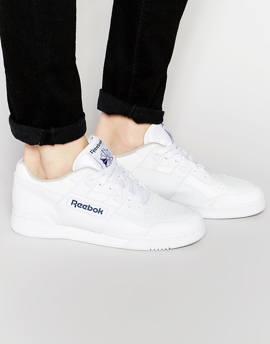 Reebok Workout Plus Trainers In White 2759  7bb12227e