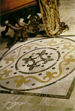 Florentine Stone Medallion I Like The Curlyness Of It For Foyer - Daltile marble threshold
